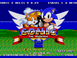 Screenshot Thumbnail / Media File 1 for Sonic the Hedgehog 2 (World) (Beta) (Simon Wai) [Hack by Esrael v0.23] (~Sonic 2 Delta)